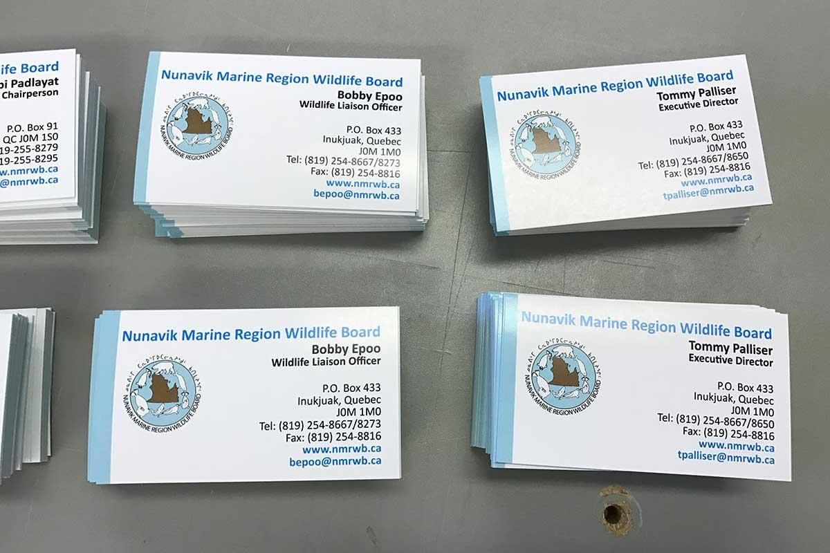 Home business cards printed for the nunavik marine region wildlife board magicingreecefo Gallery